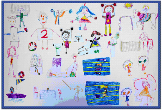 Pan-hellenic drawing competition for preschool children